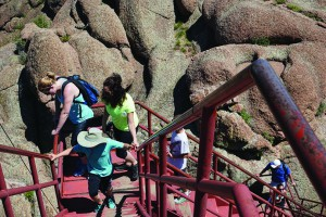 Climbing the 143 steps to the top of Devil's Head is not for the faint-of-heart.