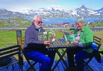 Allan and Beth Green from Bayfield find time to read CCL in Tasiilaq, Greenland. Their entry was selected in the August drawing.