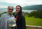 This month's Facebook contest winner is Highline Electric member Peggy Davis of Holyoke. Here she is with her magazine and granddaughter Ashley Humphreys in Scotland.