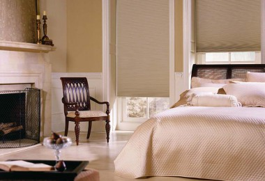 These are double-cell light-blocking cellular shades. They slide in tracks on the sides to reduce air flow and drafts from the cold window glass. Photo credit: www.cellularwindowshades.com