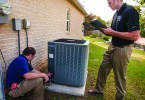 Energy auditors inspect indoor and outdoor systems. Photo Credit: United Cooperative Services.