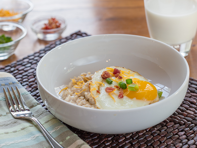 Savory Oatmeal with Soft-Cooked Egg and Bacon | Colorado Country Life ...