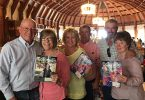 Terri and Garry Pautler, Gay and Jeff Uhland and Chris and Pat Bledsoe visit the Hotel Del in San Diego, California, with their copies of Colorado Country Life.