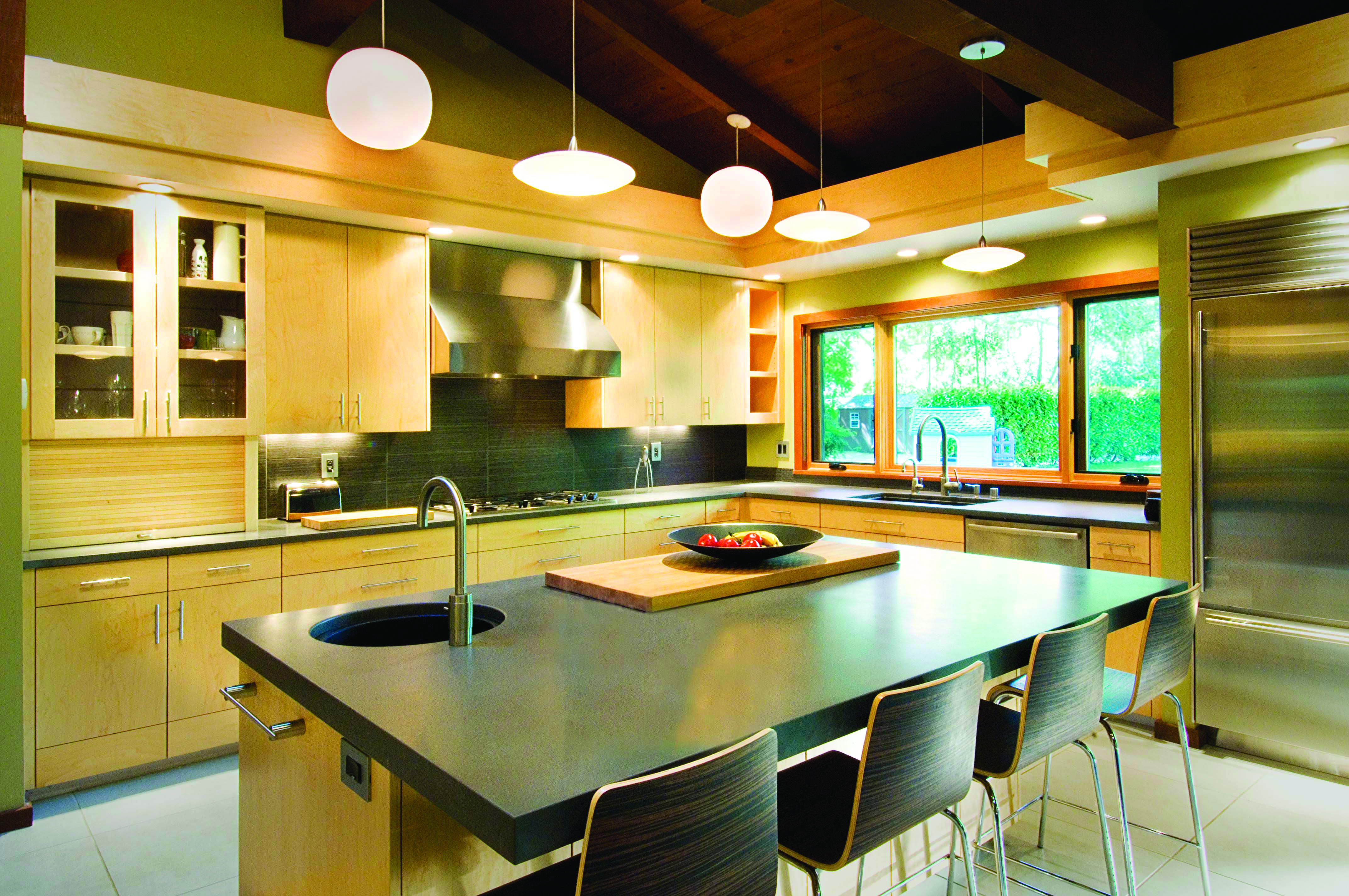 Natural Lighting Combined With Overhead And Task Can Make A Kitchen Functional