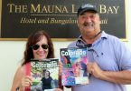 Joe and Susan Capps-Quintana celebrate their anniversary in Hawaii with their copies of Colorado Country Life.