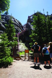 To get to the top of Devil's Head Lookout, guests must climb 143 steps.