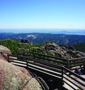 Devil's Head Lookout offers a spectacular view (above) of the eastern plains of Colorado.