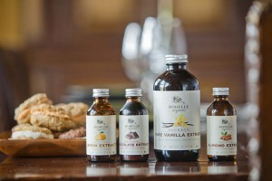 Rodelle's acclaimed pure vanilla extract alongside other popular extracts.