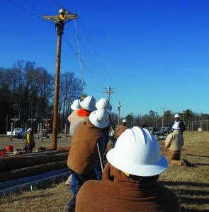 Becoming a lineman involves years of training and experience.