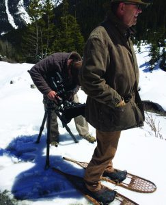 Snowshoes have always been part of a mountain lineman's necessary equipment.