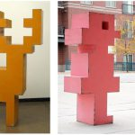 """Pixelated: Sculpture by Mike Whiting"" Outdoor Exhibition"