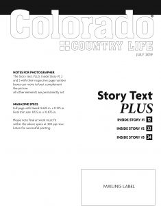 template for magazine cover