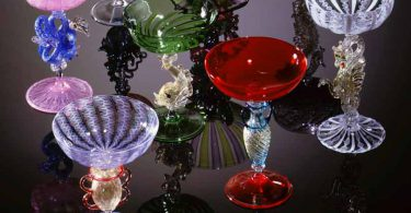 collection of glassworks by artists