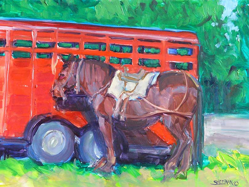 Painting of a horse by artist