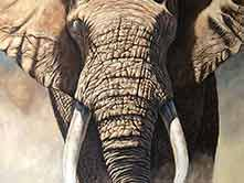"artist's painting of an elephant called ""The Last Ruler"""