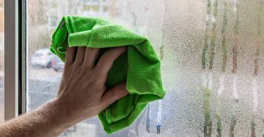 toweling off window condensation
