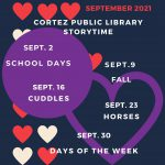 Storytimes at Cortez Public Library